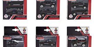 Globo Toys Globo - 37598 6 verschiedene spidko sterben Cast Polizei Trucks (2-teilig)