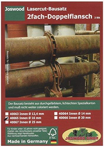 joswood 40065 16 mm Laser geschnitten World Dual Double Flansch (2-teilig)