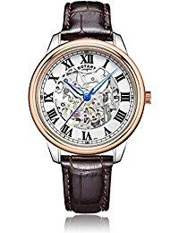 Rotary Herren-Armbanduhr Analog Automatik Leder - GS00655-01