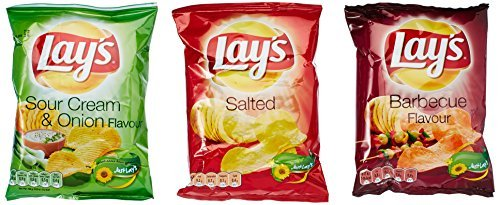Lays Chips | Favourite Variety Chips Paket (Mixed Bundle) | 6x27,5g