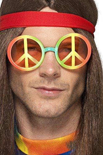 Smiffy's 44668 - Herren Hippie Sonnenbrille, One Size