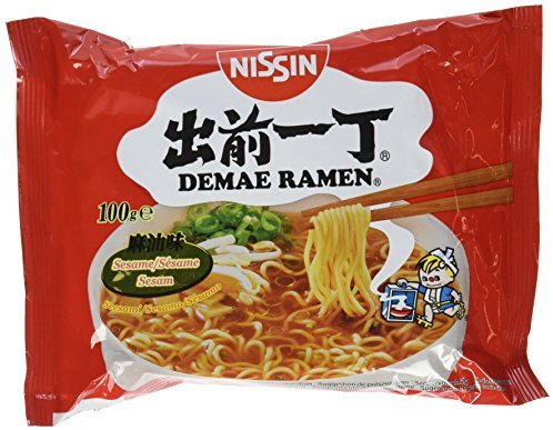 Nissin Demae Ramen Sesam, 5er Pack (5 x 100 g Beutel)