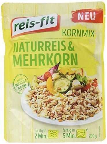 reis-fit Kornmix, Naturreis & Mehrkorn, 3er Pack (3 x 200 g)