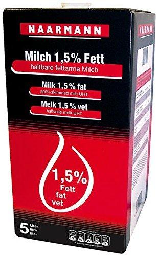 Naarmann H-Milch 1.5 Prozent Fett 5l, 1er Pack (1 x 5 l)