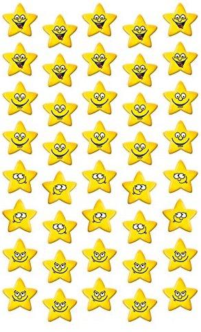 Avery Zweckform 53191 Kinder Sticker Stern Gesichter 120 Aufkleber
