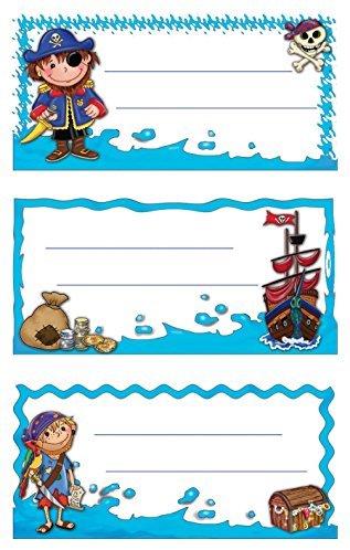 Avery Zweckform 59682 BuchEtiketten Piraten (starker Halt) 9 Aufkleber
