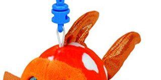 TY 35032 - Sami Clip - Clownfisch Pluschtier mit Glitzeraugen Glubschi's Babies, 8,5 cm