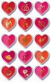 Avery Zweckform 55179 Deko Sticker Herzen (3D Effekt) 15 Aufkleber