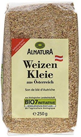 Alnatura Bio Weizenkleie, 6er Pack (6 x 250 g)