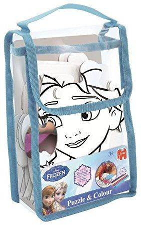 Jumbo 17424 - Frozen Puzzel und Kleur Medium, Kinderspiele
