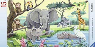 """Ravensburger Puzzle 06136 - """"Tiere Afrikas"""" Kinderpuzzle"""