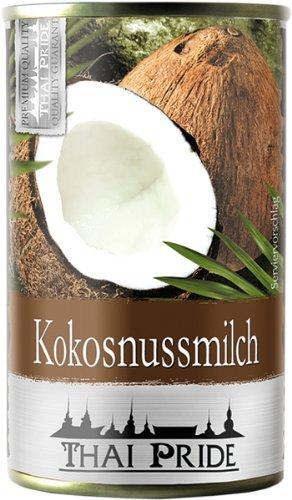 Thai Pride Kokosnussmilch, Fettgehalt: ca. 15 %, 6er Pack (6 x 160 ml)