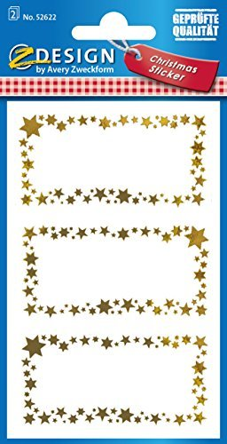 Avery Zweckform 52622 Weihnachtssticker Beschriftung Schilder 6 Aufkleber