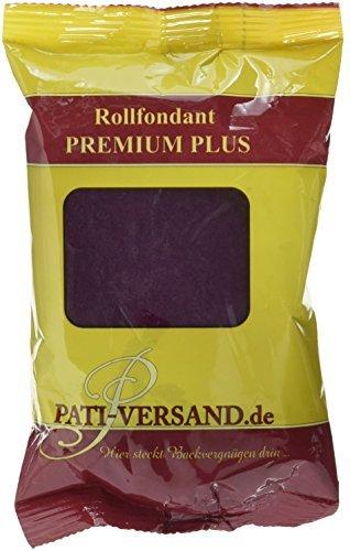 Pati Versand Rollfondant PREMIUM PLUS rubinrot, 1er Pack (1 x 250 g)