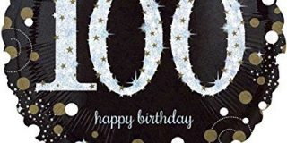 Amscan 3374401 Folie 100. Geburtstag Luftballons