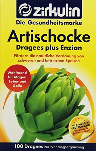 Zirkulin Artischocken Dragees plus Enzian, 100 Dragees, 87,8 g