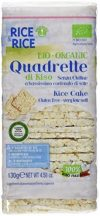 RICE&RICE Reiswaffeln Ohne Salz - Viereckig Bio, 1er Pack (1 x 130 g)