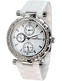 Stella Maris Damen-Armbanduhr Analog Quarz Premium Keramik Diamanten - STM15R1
