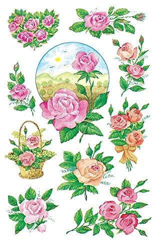 Avery Zweckform 4305 Deko Sticker Rosen 30 Aufkleber