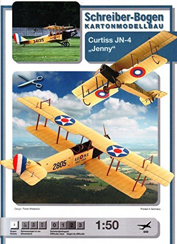 "aue-verlag 32 x 13 x 32 cm ""Jenny Curtiss jn-4"" Model Kit"