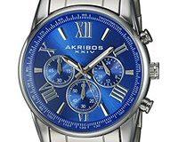 Akribos XXIV Herren-Armbanduhr AK865SSBU Analog Quarz