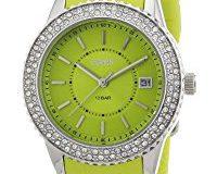 Esprit Damen-Armbanduhr marin glints Analog Quarz Silikon ES106212003