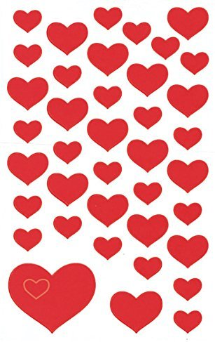 Avery Zweckform 4371 Deko Sticker Herzen 117 Aufkleber