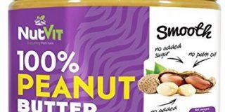 NutVit 100% Peanut Butter Smooth, 1er Pack (1 x 500 ml)