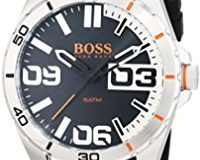Hugo Boss Orange 1513285 Herren Armbanduhr, Quarz, analoges klassisches Zifferblatt, Silikonarmband