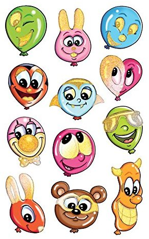 Avery Zweckform 53196 Kinder Sticker Luftballon Gesichter 24 Aufkleber