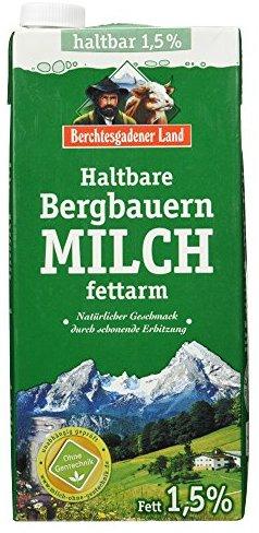 Berchtesgadener Land Haltbare Bergbauern-Milch, 1.5% Fett, 1 l