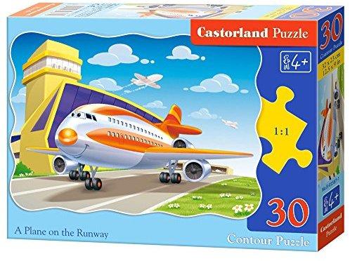 Castorland B-03587-1 - Puzzle Flieger auf dem Rollfeld 30 Teile