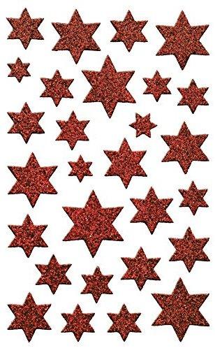 Avery Zweckform 52277 Weihnachtssticker Sterne (Glitzerfolie) 28 Aufkleber