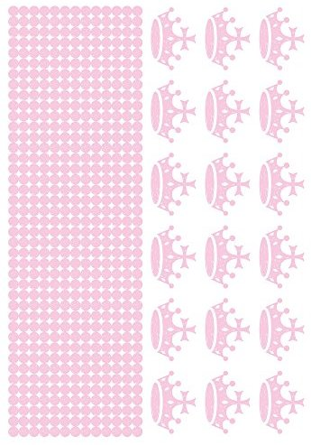 DecoPatch - ad027o - Maildor - Herrn Design - Wandaufkleber - Lot de 2 Weihnachts - 34,5 x 49 cm - Prinzessin