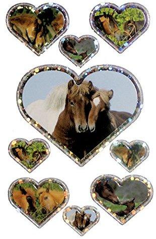 Avery Zweckform 53694 Kinder Sticker Pferde 18 Aufkleber