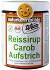 Werz Reissirup-Carob-Aufstrich glutenfrei, 1er Pack (1 x 300 g Dose) - Bio