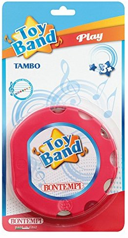 Bontempi TM1832N - Tambo, Tamburin mit abnehmbaren Schellen, 16cm