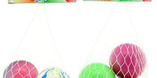Globo Toys Globo - 36713 4 cm 9 sortiert Sommer Magic Ball mit Net (3-teilig)