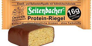 Seitenbacher Protein Riegel Orange, 4er Pack (4 x 16 g)
