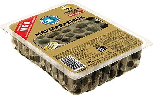 Marmarabirlik Oliven, schwarz, mit Stein, Mega, 1er Pack (1 x 500 g)