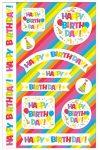 """Susy Card 40014739 - STICKER """"Happy Birthday"""", 1 Packung mit 3 Bogen"""