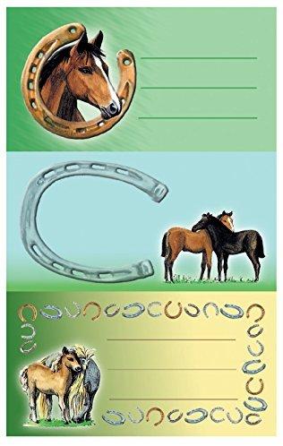 Avery Zweckform 59681 BuchEtiketten Pferde (starker Halt) 9 Aufkleber