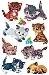 Avery Zweckform 4346 Kinder Sticker Katzen 30 Aufkleber