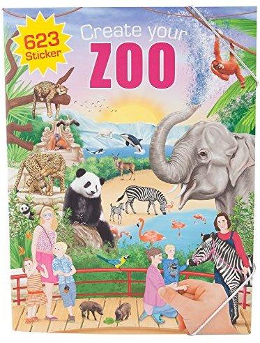 Depesche 5376 - Malbuch Create your Zoo mit Stickern