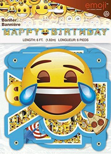 Emoji-Happy brirthday Jointed Banner