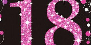 Amscan 9900579 Servietten zum 18. Geburtstag, 33 cm