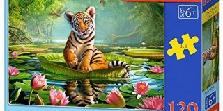 Castorland B-13296-1 - Puzzle Tiger Lily, 120 Teile