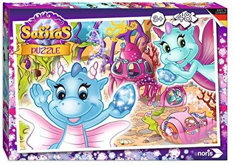 Noris Spiele 606031538 - Safiras Puzzle 48 Teile, Wasserdrachen
