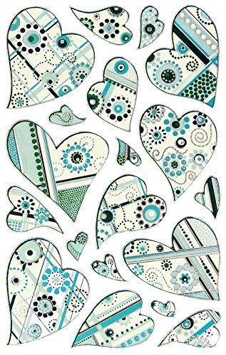 Avery Zweckform 57519 Deko Sticker Herzen (Effektfolie) 19 Aufkleber