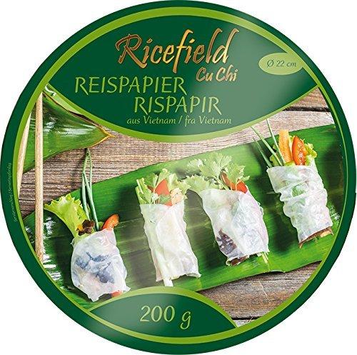 Ricefield Reispapier, rund, 22 cm, 3er Pack (3 x 0.2 kg)